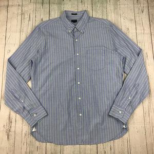 J Crew slim end on end cotton button front shirt